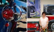 لوحات فنية: فنانة تمزج بين الواقع والفن التجريدي في لوحات للمركبات