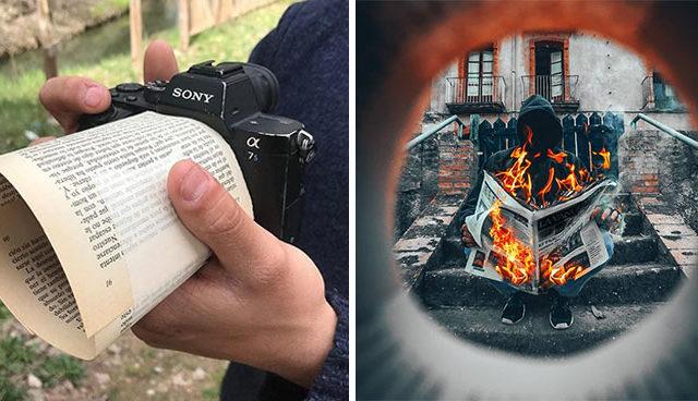 طريقة فريدة من نوعها لالتقاط اجمل الصور من خلال المنظور ودعائم بسيطة (12 صورة)