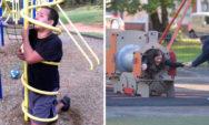 مواقف مضحكة انتهت بشكل كارثي لأناس بالغين اثناء لعبهم في ملاهي الأطفال