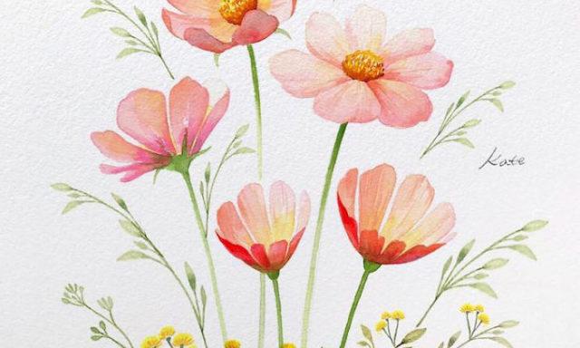 شاهد…فنانة كورية تكشف عن كيفية رسم زهور مثالية في 3 خطوات بسيطة فقط!