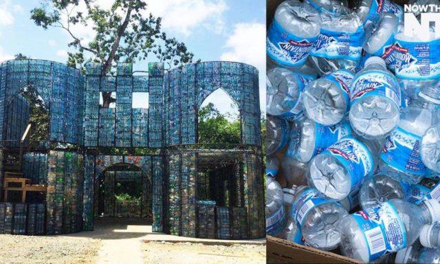 بيوت من قارورات البلاستيك: فكرة جميلة للحفاظ على البيئة