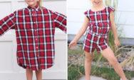 اعادة تدوير الملابس: أم تحول قمصان زوجها القديمة لصنع فساتين رائعة لبناتها