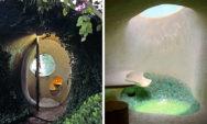 الهندسة العضوية: تصاميم رائعة لمنازل عصرية من مواد تقليدية !!