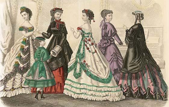 شاهد الفرق الكبير في تغير أزياء المرأة من 1784 إلى 1970
