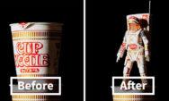 فنان ياباني يحوّل عبوات المنتجات إلى أشياء خارقة (نتائج مذهلة في 19 صورة)