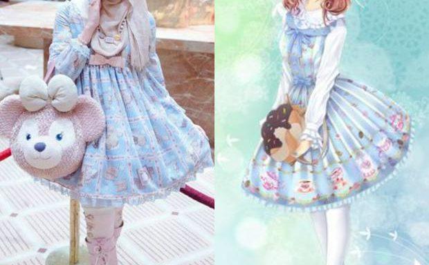 """موضة جديدة تتبعها الفتيات المحجبات في اليابان بعد أن اطلقتها فتاة تدعى """"لوليتا"""""""