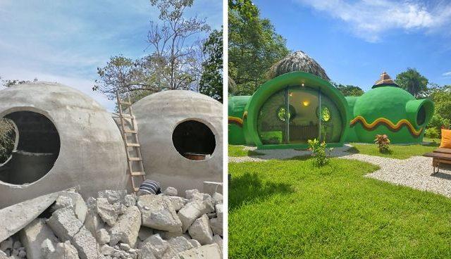 """منزل القبة:بيت مدهش في """"كوستاريكا"""" مصنوع من المنظفات الخرسانية ورغوة غسيل الصحون(21 صورة)"""