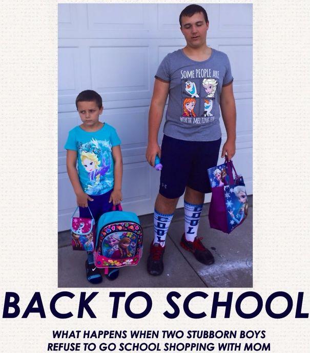 طرائف مضحكة: صور توثق فرحة الآباء بعودة أطفالهم إلى المدارس! 25