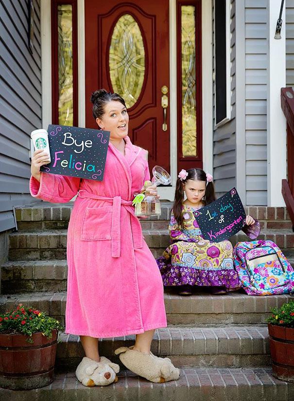 طرائف مضحكة: صور توثق فرحة الآباء بعودة أطفالهم إلى المدارس! 8