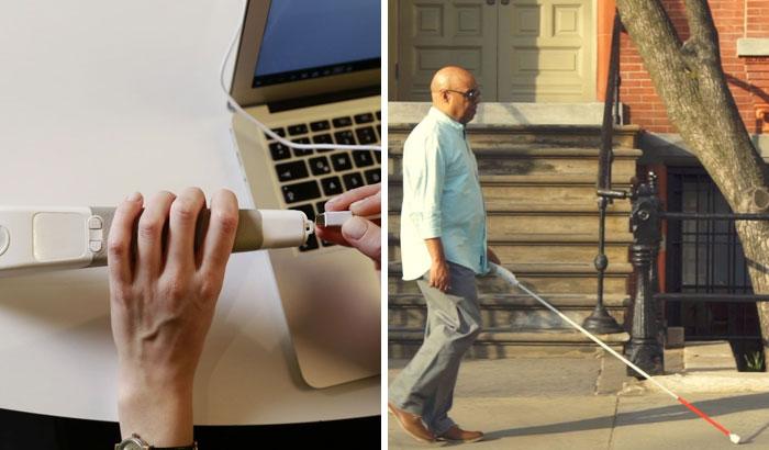 """مهندس أعمى اخترع """"عصا ذكية"""" تستخدم خرائط Google لمساعدة المكفوفين على التنقل 1"""