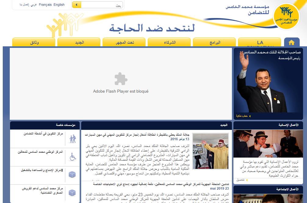 معلومات عن مؤسسة محمد الخامس للتضامن