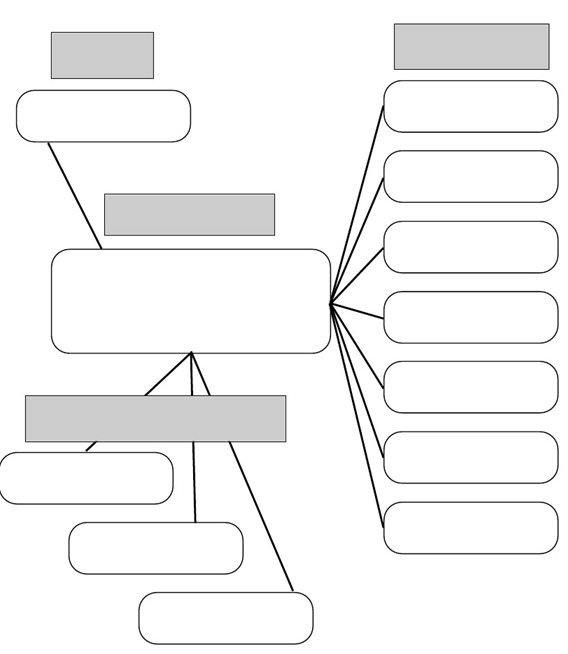 خريطة مفاهيم فارغة بتصميم رائع جاهزة للطباعة والتحميل