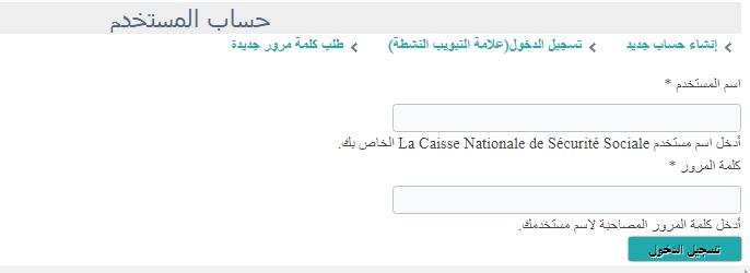 تسجيل الدخول الى حسابي في الضمان الاجتماعي