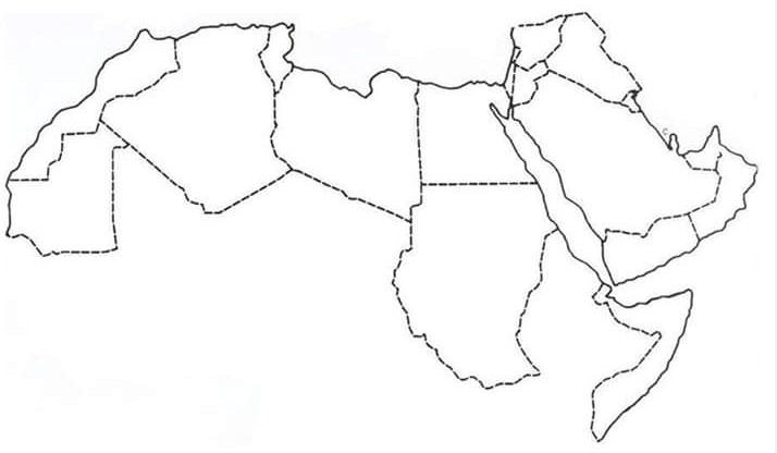 خريطة الوطن العربي صماء معلومة