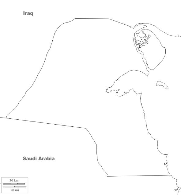 صور خريطة الكويت صماء