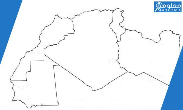 صور خريطة المغرب العربي صماء بالابيض والاسود