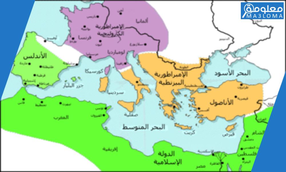 كانت الدولة العربية الإسلامية في العهد العباسي تمتد في قارات ……