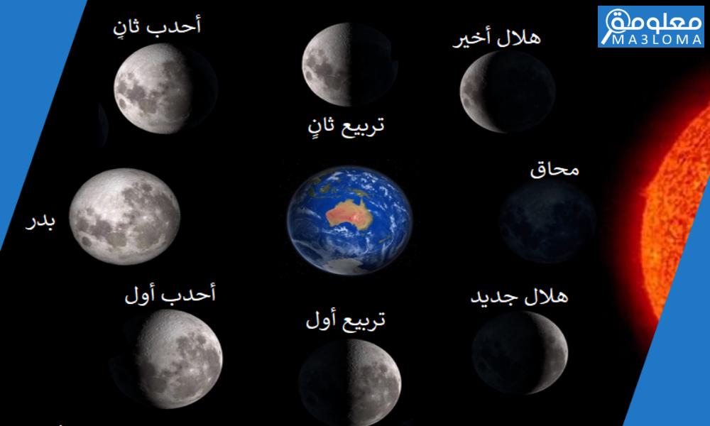 في الفترة التي يتحول فيها القمر من محاق إلى بدر، يبدو وكأنه …………..