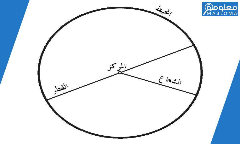 القطر هو المسافة بين نقطتين على الدائرة مروراً بالمركز صح أم خطأ